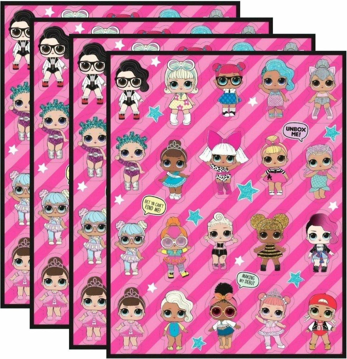 Stickerset L.o.l Surprise 80 Stickers