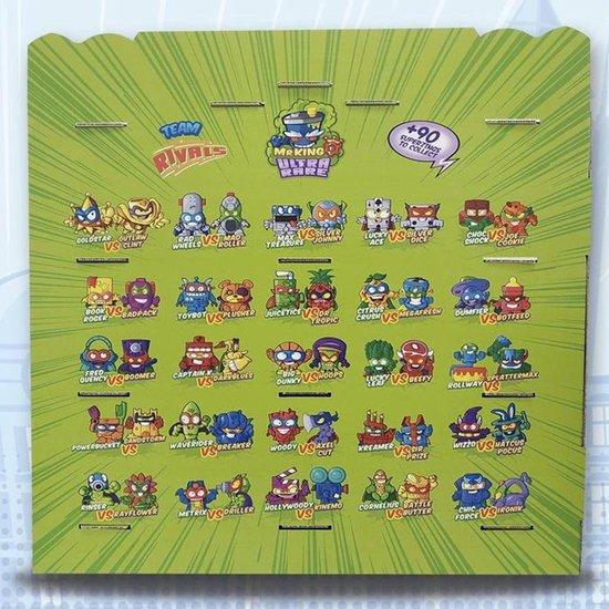 Afbeelding van het spel SuperZings Een groen kleurendisplay met vier planken - serie 3 Collector's Display