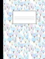Magical Winter Forest: Graph Ruled Notebook