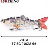 7-Delige Swimbait ruisvoorn - 3 onderlijnen - Kunstaas voor roofvis - plug - vissen