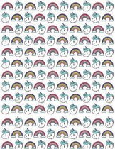 College Ruled: Notebook (Unicorn & Rainbows) 8.5 x 11 200 pages