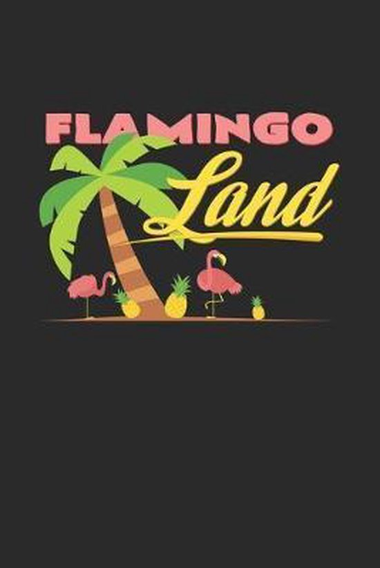 Flamingo Land: 6x9 Flamingo - dotgrid - dot grid paper - notebook - notes