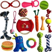 Petloverz – Honden Speelgoed Set – Honden Speeltjes – Knuffel - Speelgoed – Intelligentie – 15 Speeltjes