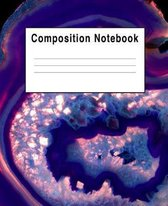 Composition Notebook: Warm Blue Rock Stone Agate