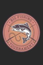 Big Fishing Tournament: Special Fishing Log Book for Fishermen to Write Down Details of Fishing Trip, Record Catches and Trip Stories: Retro B
