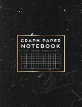 Graph Paper Notebook: 1/4 inch Squares - Quad Ruled Grid Paper Notebook For School
