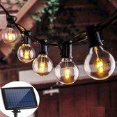 J-Pro Tuinverlichting op Zonne-Energie - 50 Big Solar LED Lampen 9,5m - Lichtsnoer - Lichtslinger
