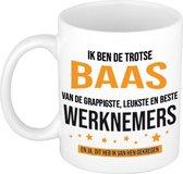 Trotse baas werknemers cadeau koffiemok / theebeker 300 ml