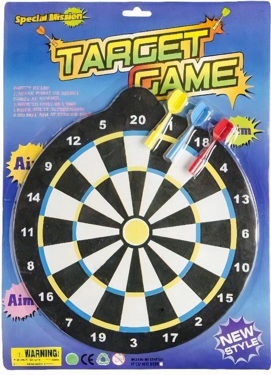 Lg-imports Magnetisch Dartspel Junior 25 Cm Zwart/wit 4-delig