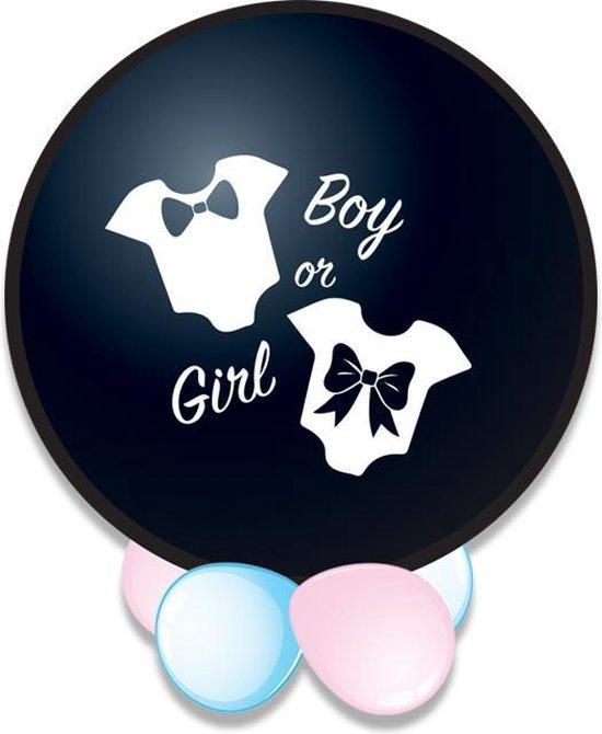 Ballon Gender Reveal It's a girl confetti