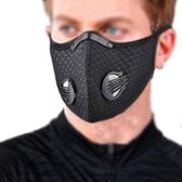 ROFY Prof. N98 Sportmasker - Mondkapje zwart incl.