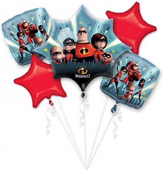 The Incredibles 2 Helium Ballon set 5 delig leeg