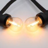 Prikkabel set met LED lampen, 10 meter met 20 fittingen - 1 watt filament lampen (2200K)