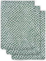 Jollein Washandjes hydrofiel Snake ash green (3pack)