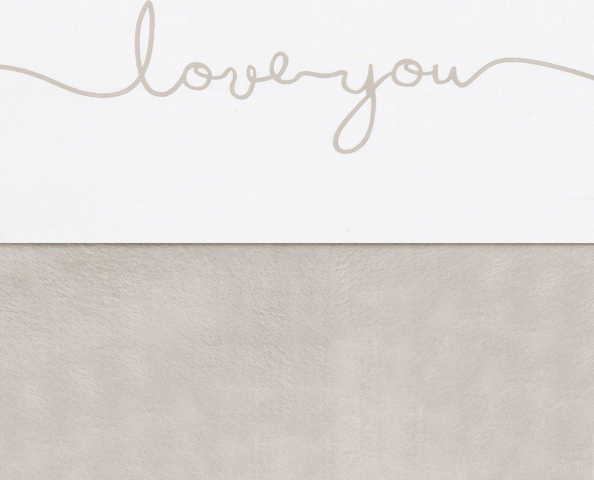 Jollein WIeg laken Love you 75x100cm - nougat