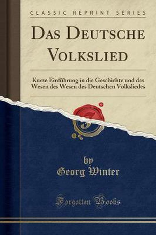 Winter, G: GER-DEUTSCHE VOLKSLIED