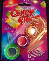 Magnetische vinger ringen met glitter, nieuwe rage!! (magnetic rings)