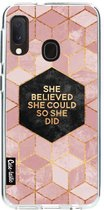 Samsung Galaxy A20e hoesje She Believed She Could So She Did Casetastic Smartphone Hoesje softcover case
