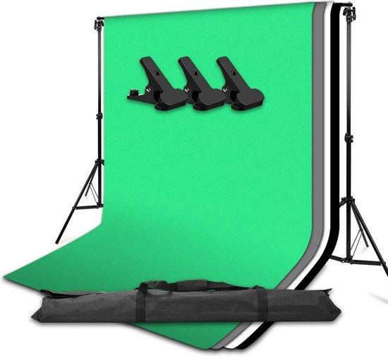 Grandecom® Pro Greenscreen Set - Met achtergrond systeem - Chroma Key -...