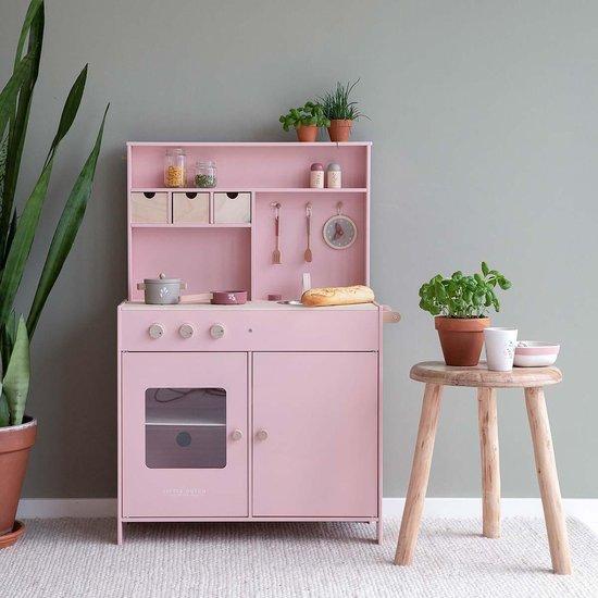 Little Dutch Speelgoed Houten Keuken - Roze