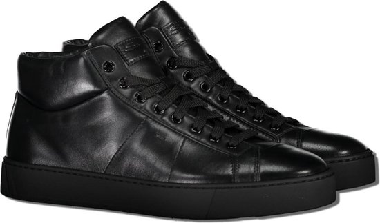 Santoni Sneaker Zwart  - Maat 43.5 - Heren - Herfst/Winter Collectie - Leer