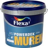 Flexa Powerdek Muren & Plafonds Muurverf - Stralend wit - 5 L