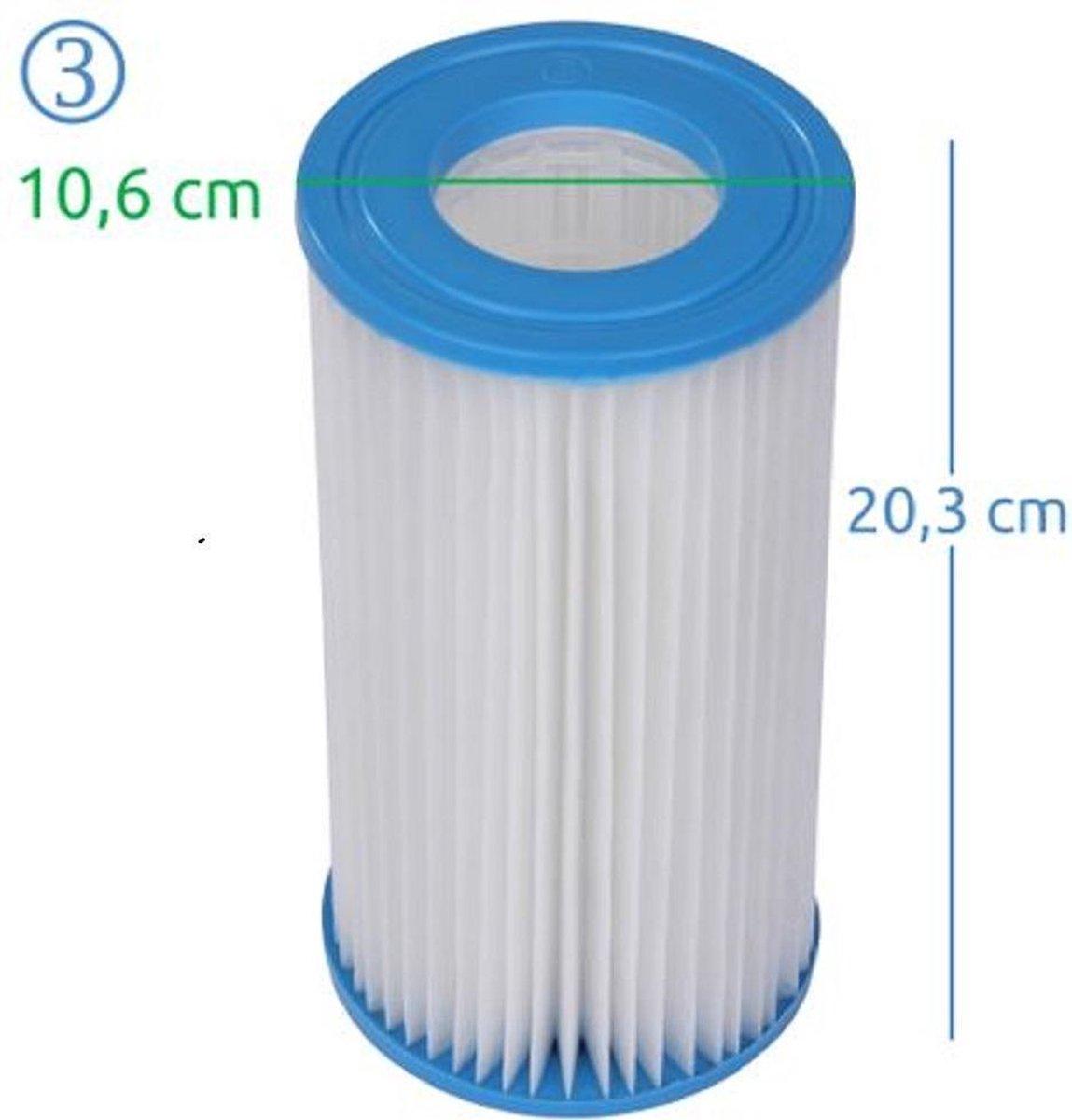 Jilong filter type 3 - Intex filter A - blueborn 3 - Avenli