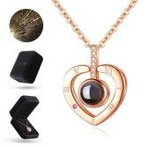Luxore® I Love You Ketting in 100 Talen Cadeautje voor Vrouw – Liefdes Verrassing –
