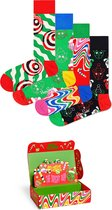 Happy Socks Psychedelic Candy Cane Socks Giftbox - Maat 41-46