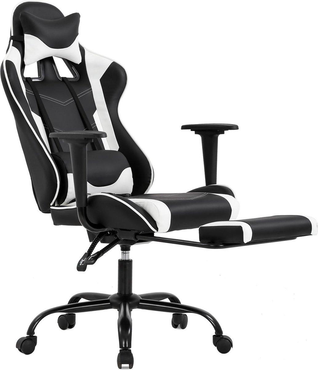 Best Office OC-1688 Bureaustoel - Wit - Ergonomisch - Met Lendensteun - PU-leer - Verstelbaar
