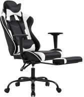 Best Office OC-1688-White Ergonomische gaming stoel met lendensteun - PU-leer - verstelbaar