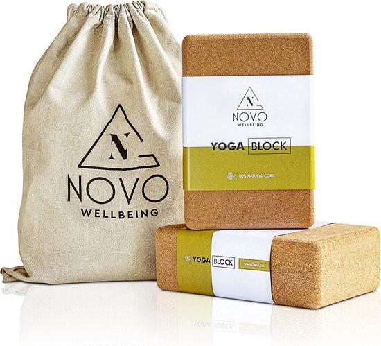 Yoga Blok | 100% Kurk | 2 stuks met tas | Stabiliteit Grip & Anti-slip
