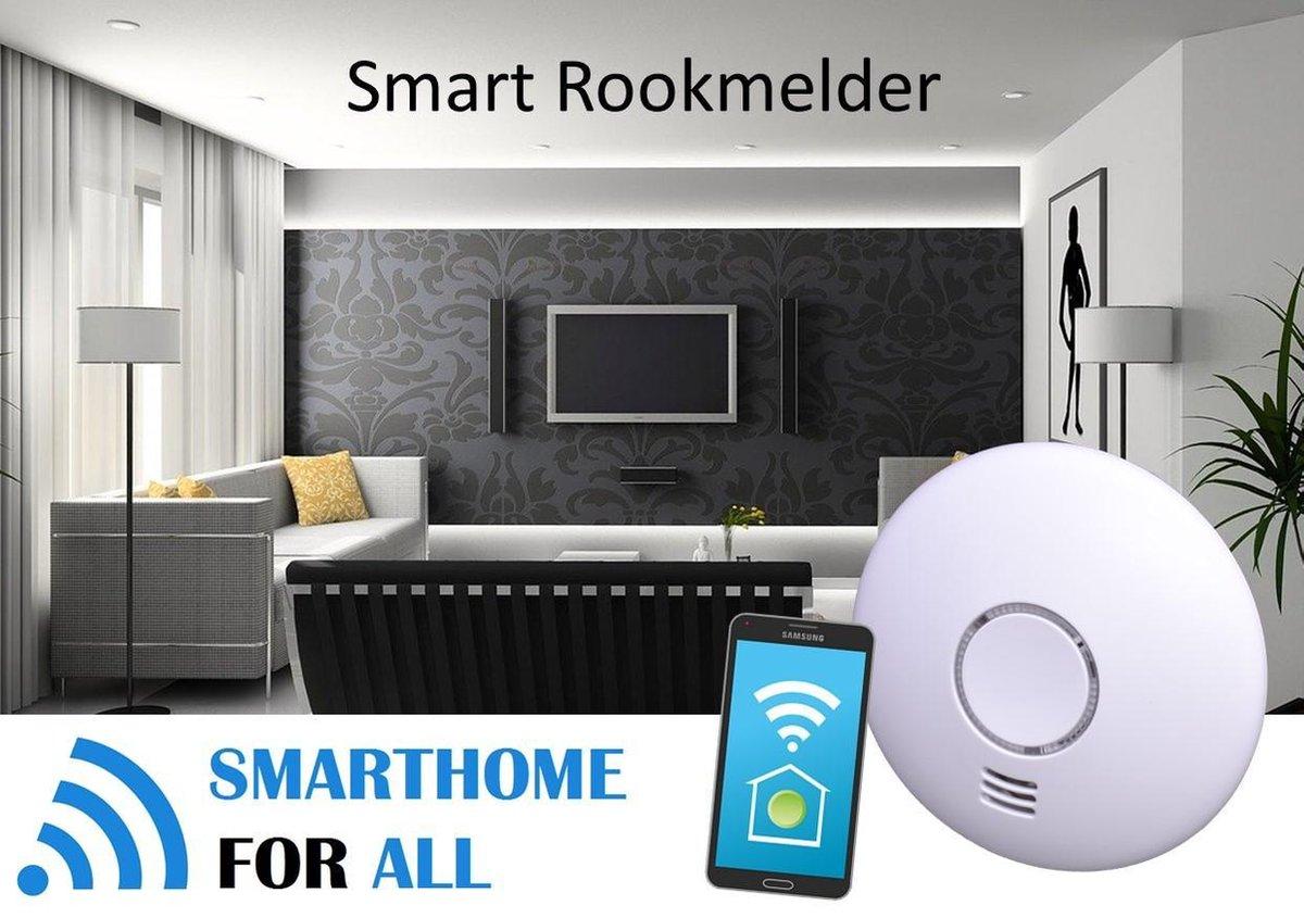Bol Com Slimme Wifi Rookmelder En Hittemelder Tuya Compatible Batterij Gevoed Smartphone 3