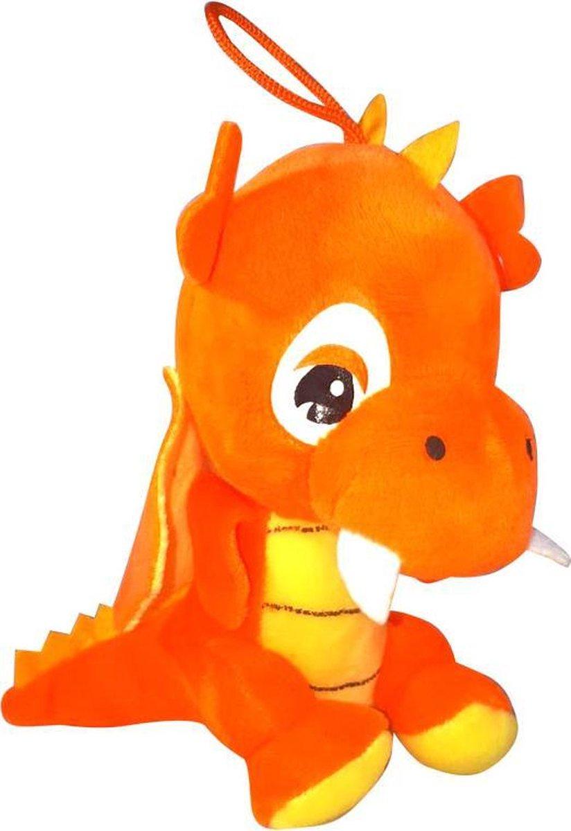 Pluche Draak Knuffel Oranje 18cm