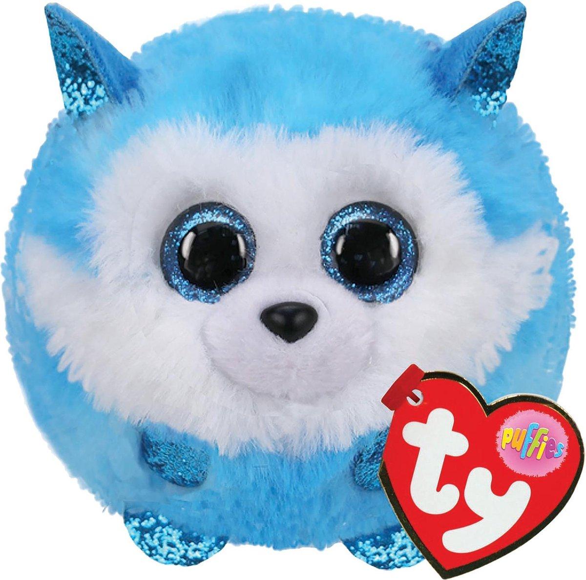 TY Puffies Husky Knuffel Prince 8 cm