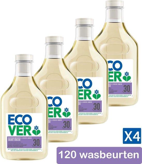 Ecover Vloeibaar Wasmiddel Color - Appelbloesem & Freesia - Voordeelverpakking 4 x 1,5 l - 120 Wasbeurten