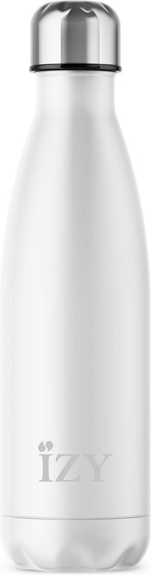 IZY - drinkfles / thermosfles - 500 ml - Wit Mat - IZY Bottles
