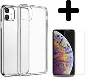 iPhone 11 Hoesje Silicone Case Cover En Screenprotector Tempered Glass