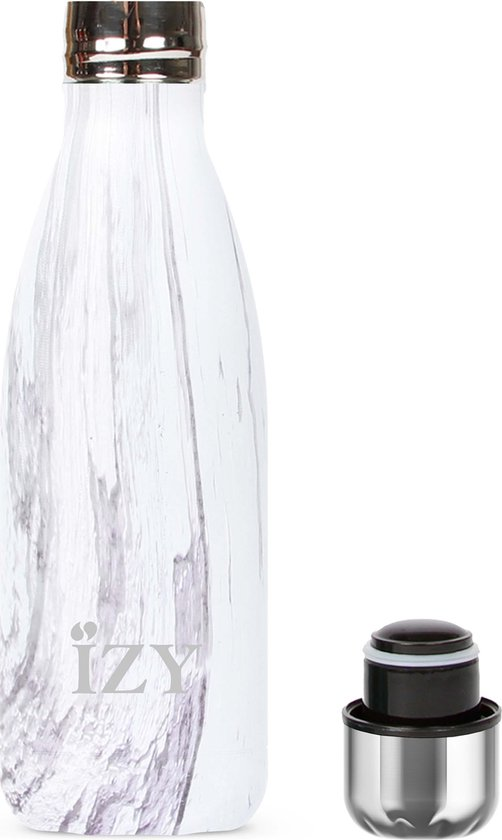IZY - drinkfles / thermosfles - 350 ml - Paars Design - IZY Bottles