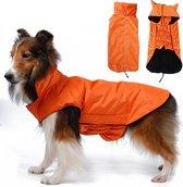 Warm waterproof jasje voor honden - XXL - ORANJE
