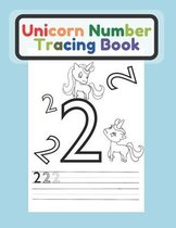 Unicorn Number Tracing Book