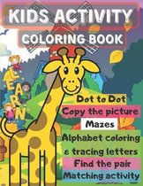 kids activity coloring book