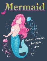 Mermaid Activity Books for girls 4-6