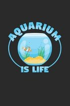 Aquarium is life: 6x9 Aquarium - grid - squared paper - notebook - notes