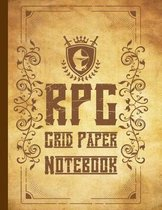RPG Grid Paper Notebook: Squared Graph Papers For Role Playing Games