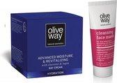 Oliveway SET Hydraterende dagcrème en reinigend masker (2stuks)