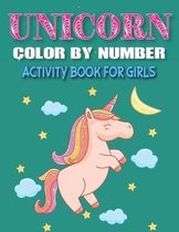 Unicorn Color by Number Activity Book for Girls