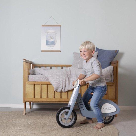 Little Dutch Houten Loopscooter - Blauw