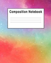 Composition Notebook: Iridescent Rainbow Space