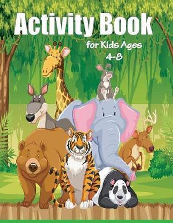 Activity Book for Kids Ages 4-8: Brain Games for Clever Kids, Fun Kid Workbook Game For Learning, Coloring, Dot To Dot, find the differences, Mazes